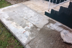 demo concrete patio before