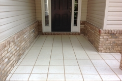 free hand 1 foot tile finish